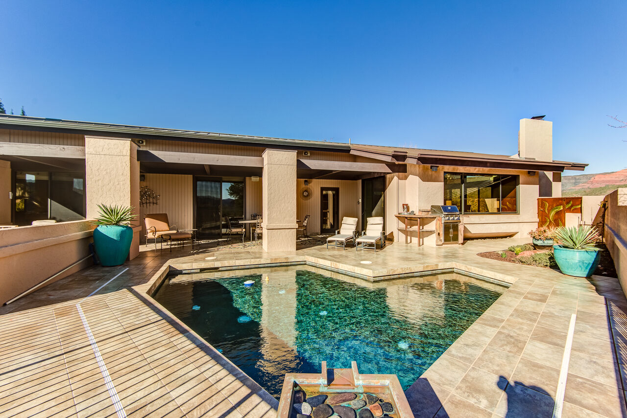 Expansive Patio with a Private Pool