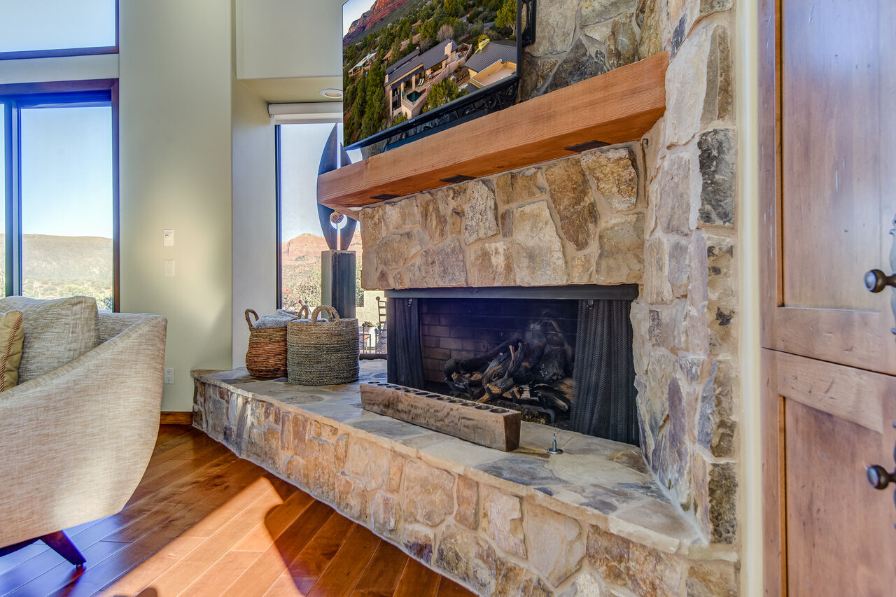 Cozy Gas Fireplace and 55