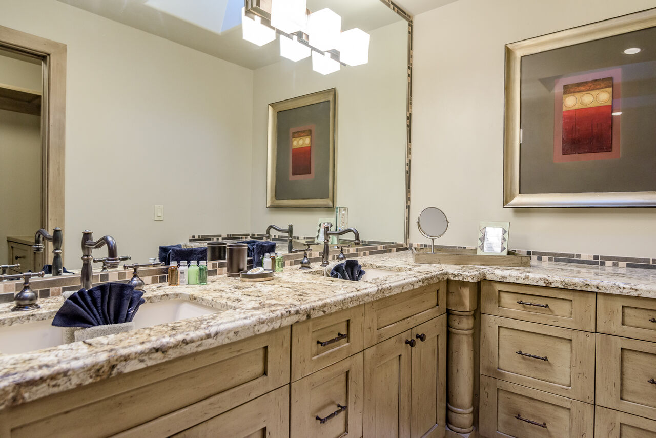 Grand Master Bath with Dual Stone Counter Sinks