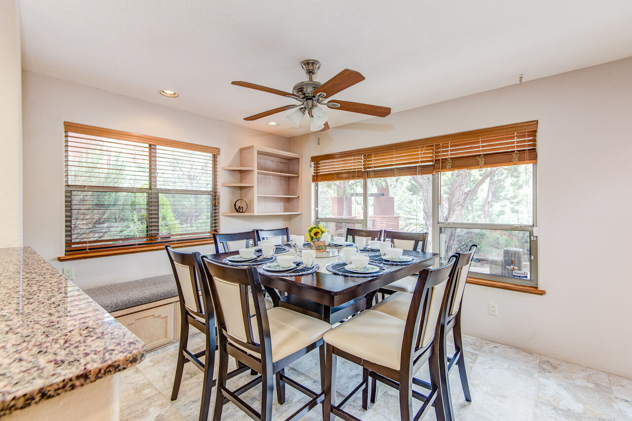 Breakfast Nook with Seating for Eight