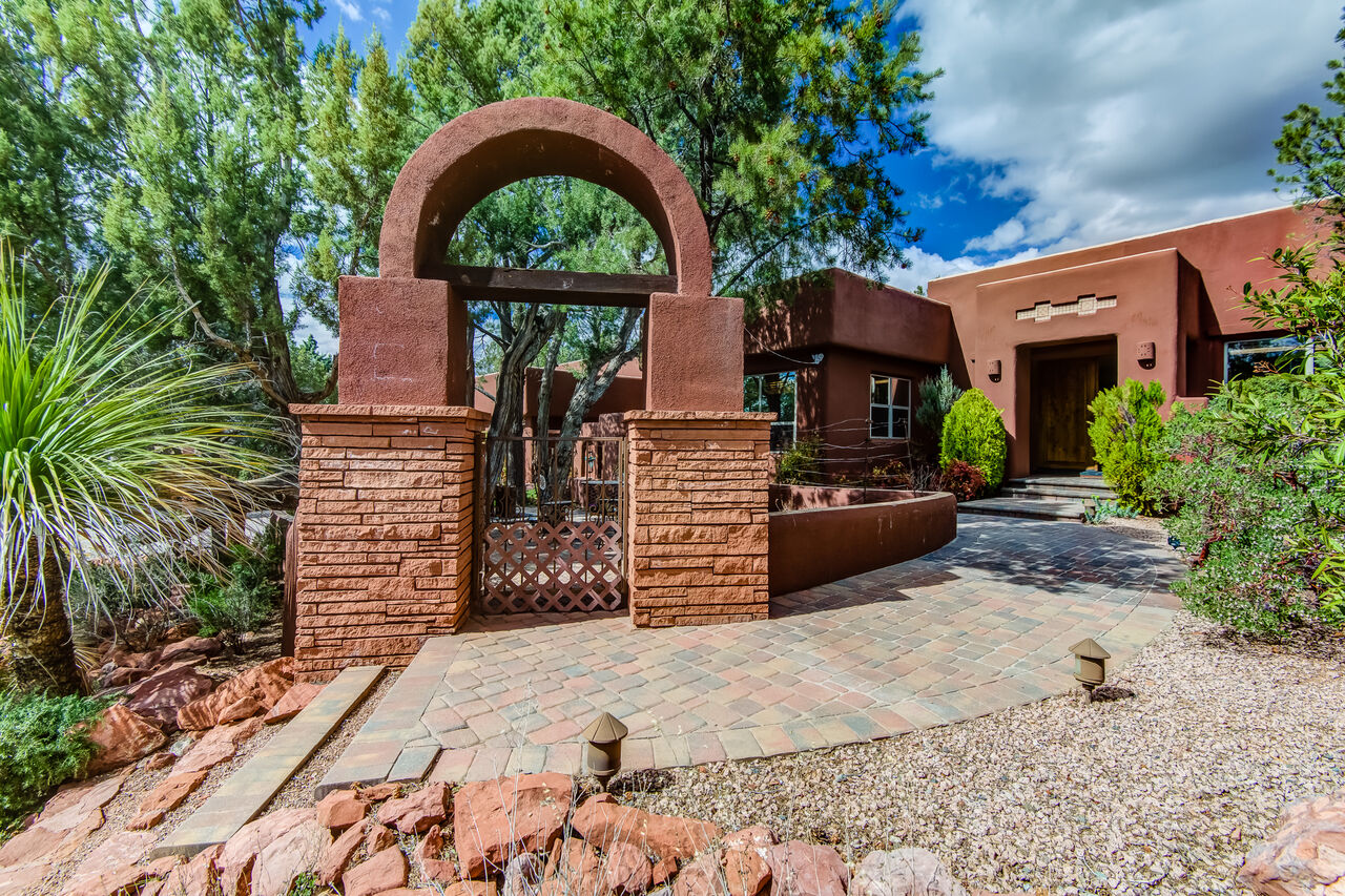 Gated Entry to Patio