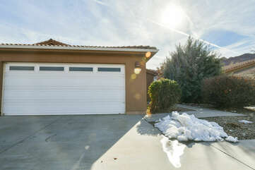 Picture of the Garage Door of Our Moab Condo for Rent.