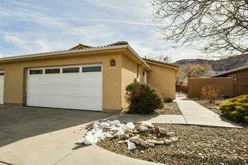 Exterior Picture of Our Moab Utah Condo Rental.
