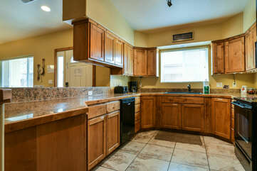Kitchen with Dishwasher in Our Moab Utah Condo Rental.