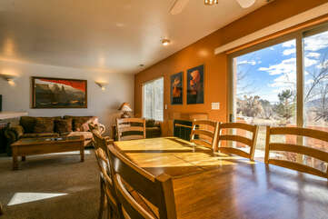 dining room with a view