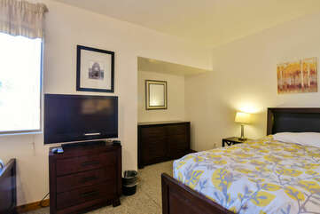 bedroom with a TV