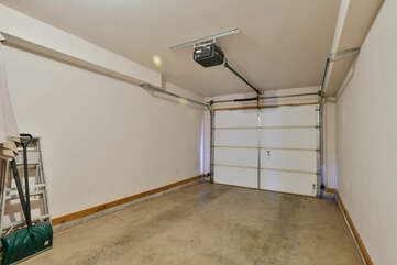 large garage with plenty of space