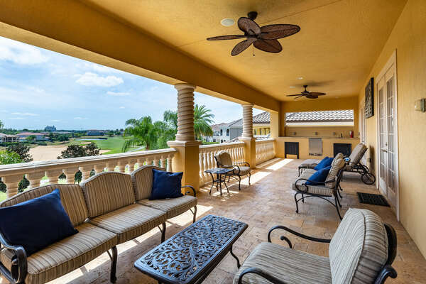 Enjoy a cup of coffee on the balcony while taking in all the resort views