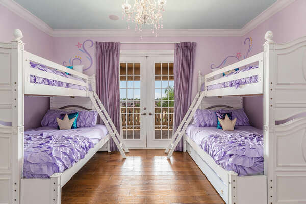 Princesses will enjoy their fairytale bedroom