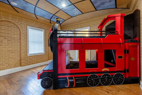 Adventure awaits in the custom kids bedroom