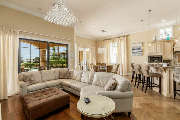 The open concept living area makes it the perfect gathering place