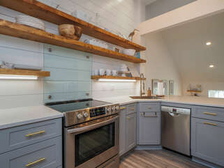 The new kitchen is perfect for the gourmet chef or the take out specialist.