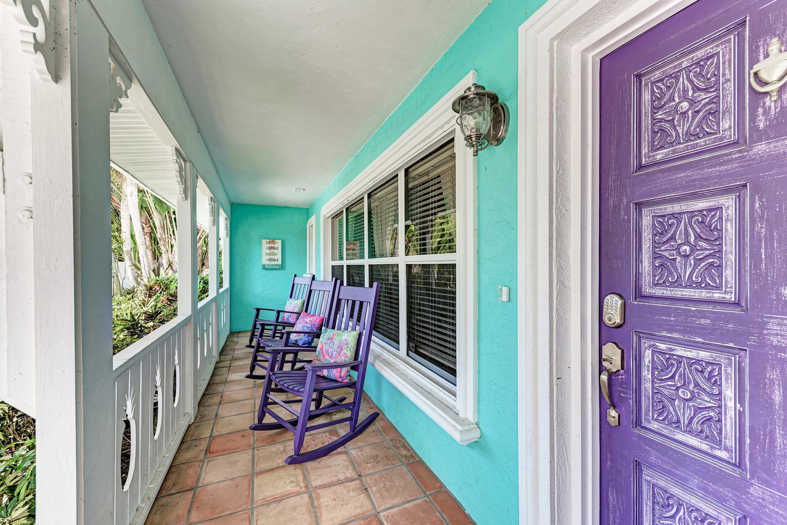 Barefoot Bungalow front porch