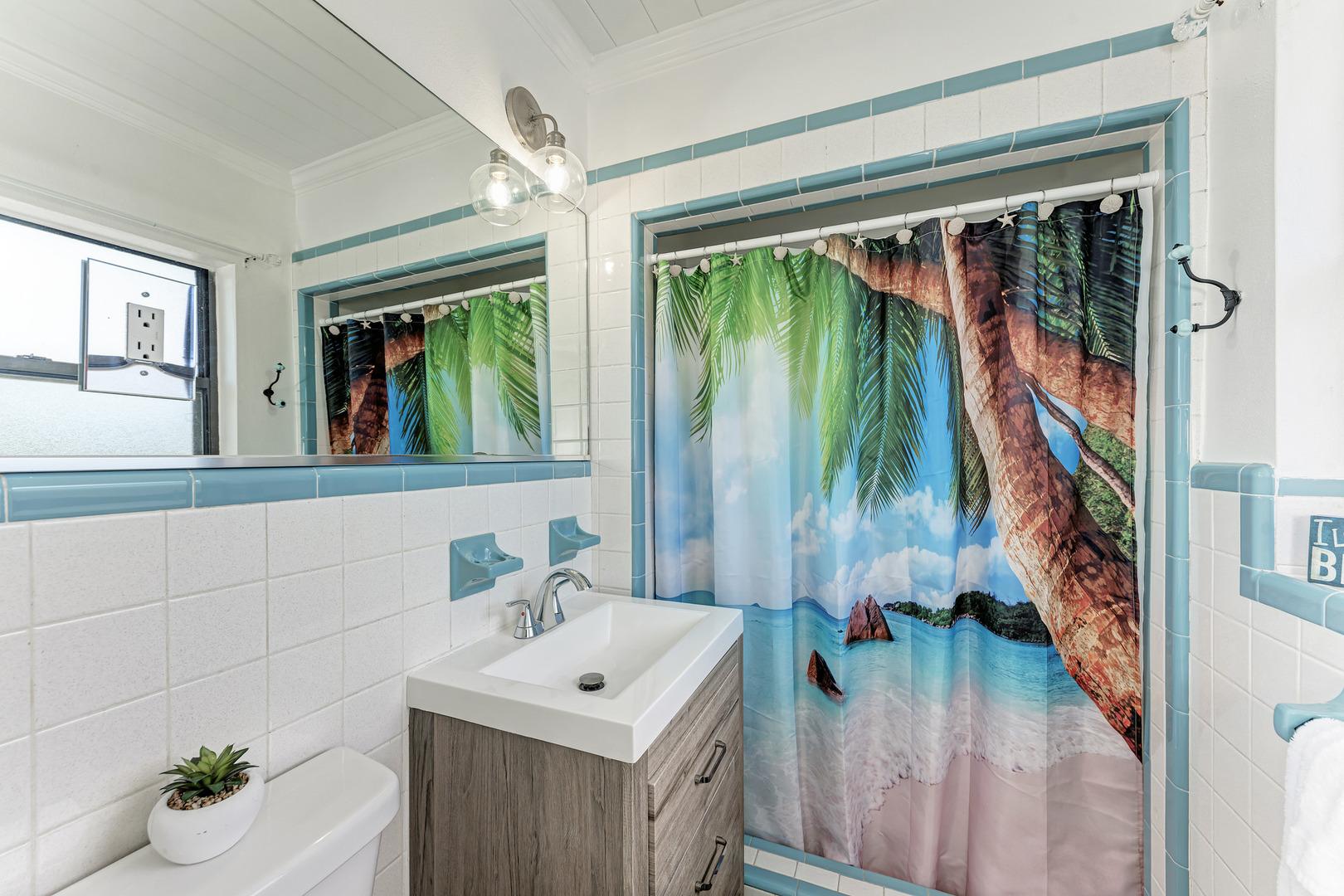Barefoot Bungalow master bathroom