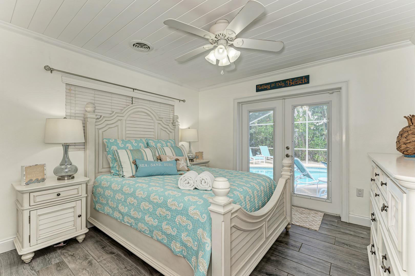 Barefoot Bungalow guest bedroom view from doorway