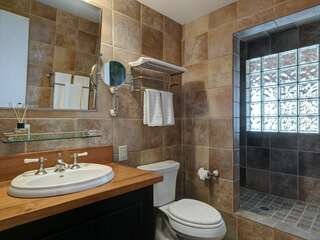 Lower Level Shared Bathroom with shower