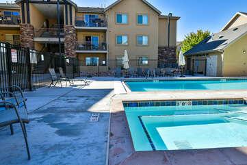 Seasonal pool and hot tub