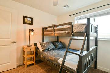 Third bedroom with bunk-beds