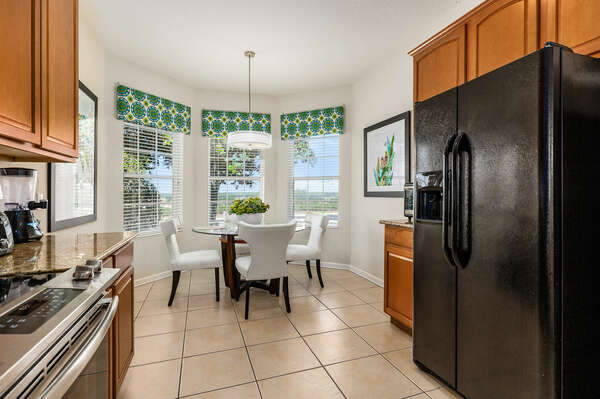 Make your favorite breakfast and sit with loved ones at the breakfast nook