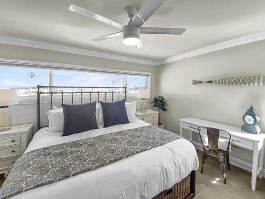 Guest Bedroom, King Bed & Desk Workspace - Third Floor