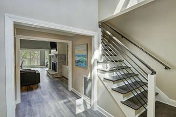 New hardwood floors, updated kitchen, more modern feel in this luxurious lake home!