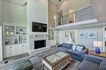 2 story living room - gives an open feel with lots of light.