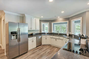 New leathered granite counter tops - all new appliances.