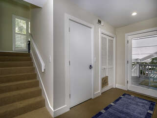 steps to upper main living area