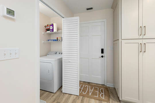 Entry Area and Laundry Area with full size washer and dryer