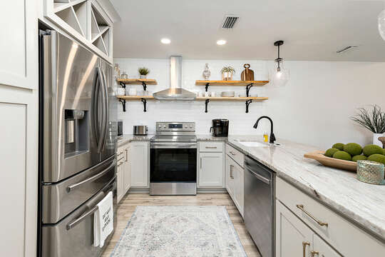 Kitchen Area with Stainless Steel Appliances