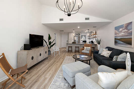 Living Area with HD Smart TV
