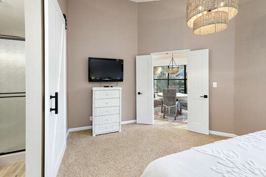 Master Bedroom with HD TV