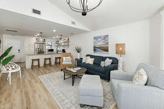 Open Floorplan Living and Kitchen Areas
