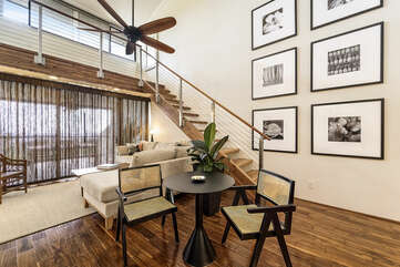 Dining Area for 2 and Staircase to the Loft