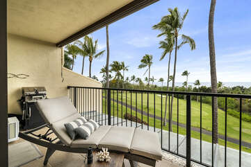Lounge Chair and BBQ on Spacious Private Lanai