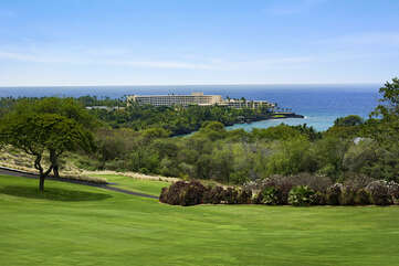 Ocean and Golf Course Views from the Lanai at Kona Country Club Villa