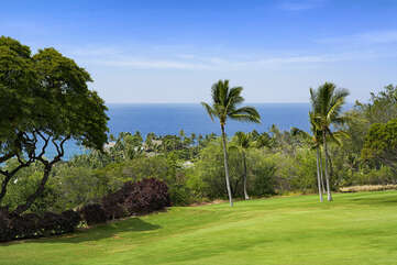 Ocean and Golf Course Views from Kona Country Club Villa