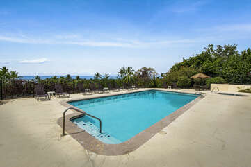 Pool Area with Ocean Views at Kona Country Club Villa