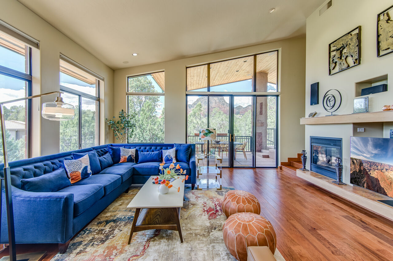 Remodeled Home with Stunning Hardwood Floors, High Ceilings and Amazing Views