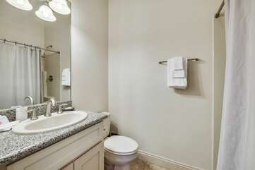 Lower level - private bathroom with shower