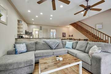 Main level - Living area with large sectional