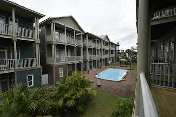 Main level balcony view