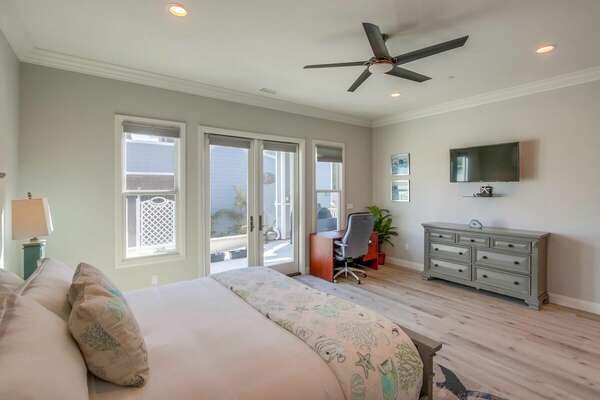 Master Suite with King Bed and Desk Workspace - First Floor