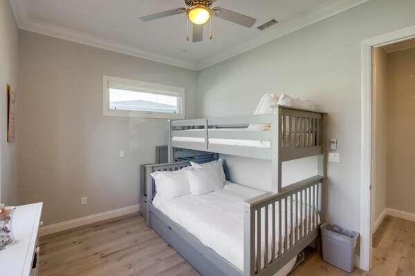 Bunk Room, Full/Twin Bunk + Twin Trundle - First Floor