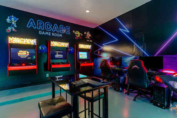 Non-stop fun in the game room
