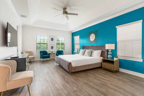 Master Suite with a king-size bed and plenty of space for relaxation