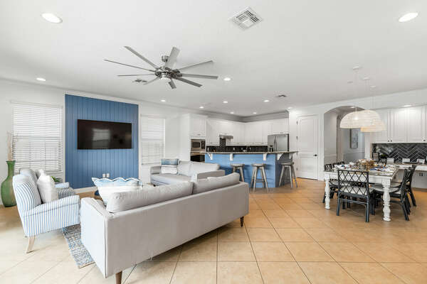 A large, open floor plan provides space to create memories