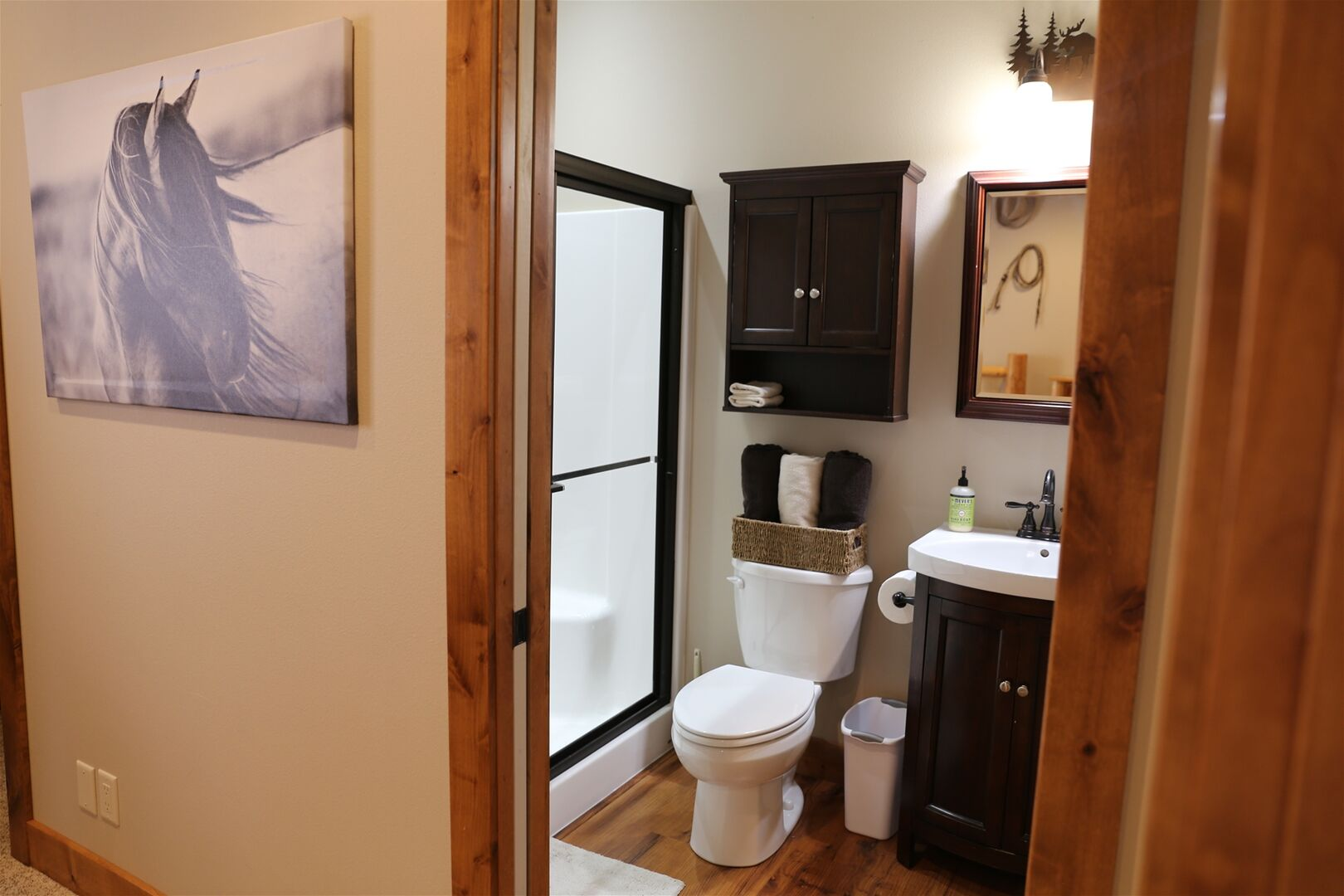 Full Attached Bath with large step in shower