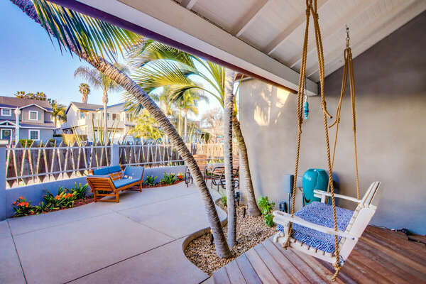 Front Patio with Swing