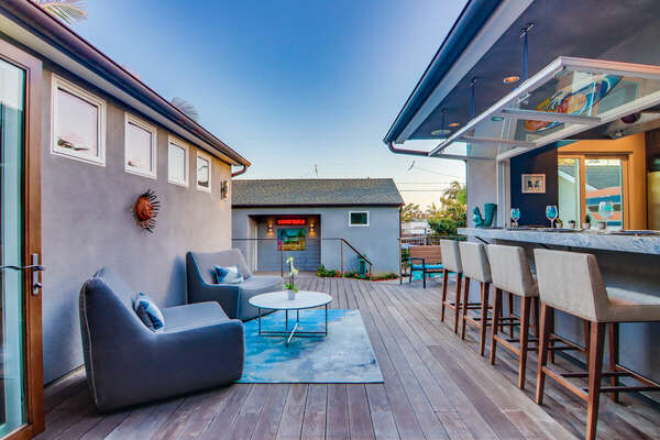 Outdoor Living and Bar - First Floor